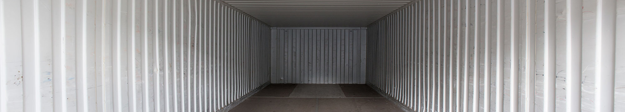 inside shipping container